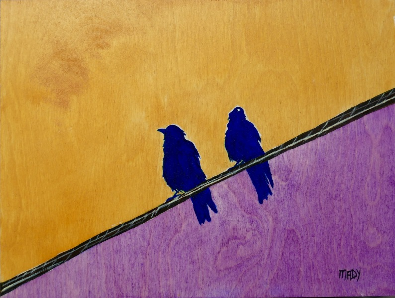 Two Birds On A Wire  Mady Thiel-Kopstein
