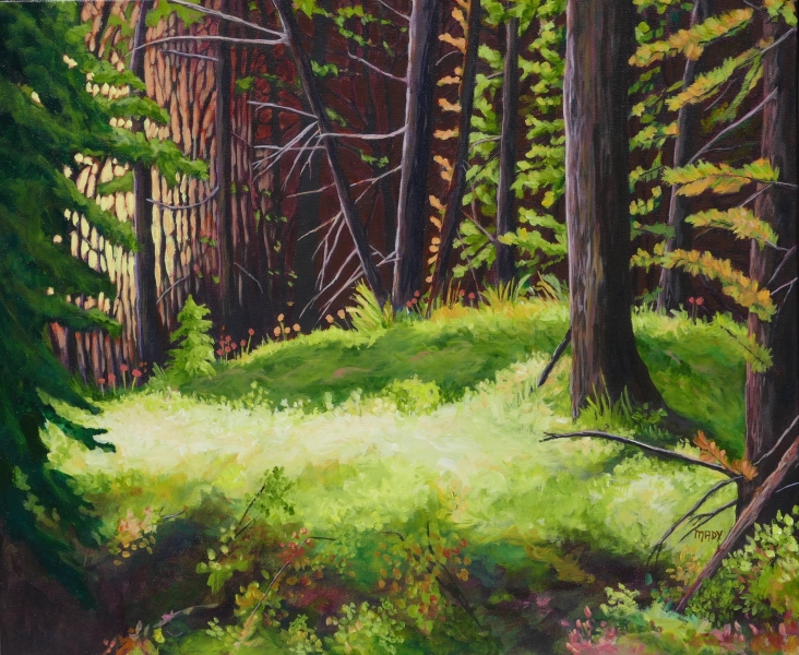 Forest Bath 20x24  Mady Thiel-Kopstein