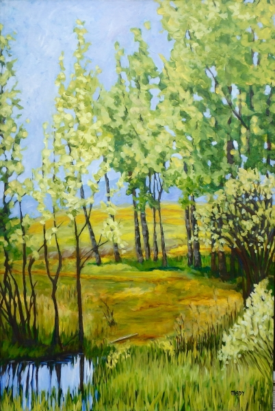 Lunch Spot 3 24x36 Mady Thiel-Kopstein SOLD