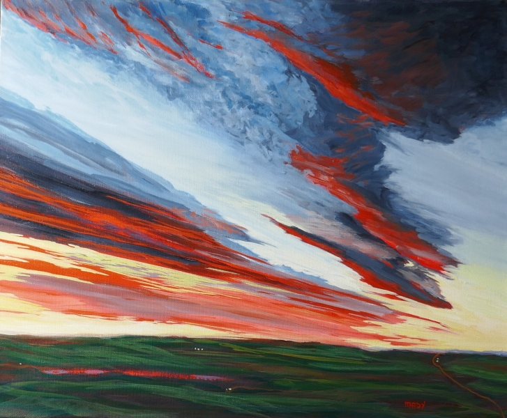 Sunrise Sunset 20x24 Mady Thiel-Kopstein