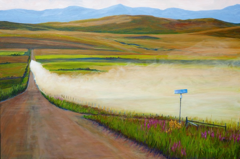 The Long Road Into Town 24x36 Mady Thiel-Kopstein SOLD