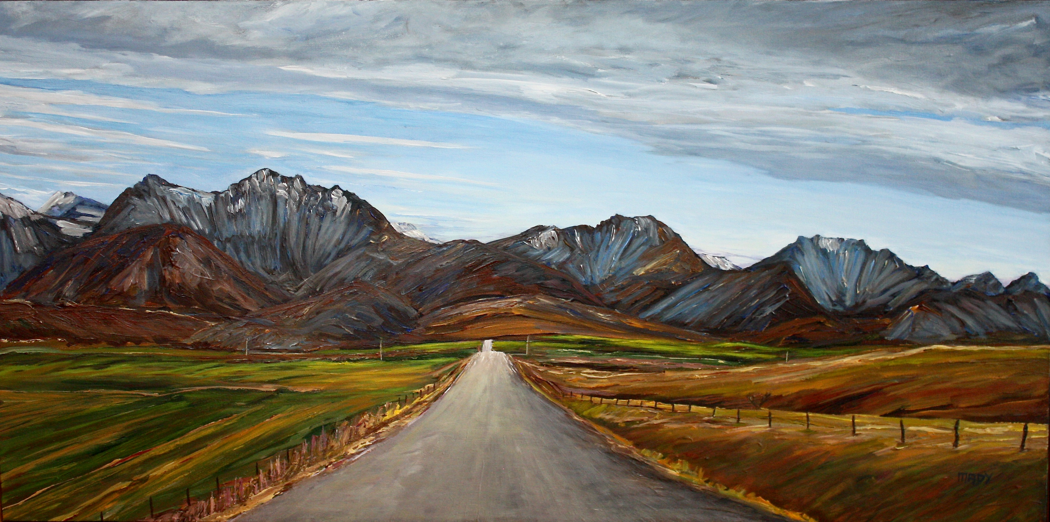 Spread Eagle Road 20x40 Mady Thiel-Kopstein SOLD
