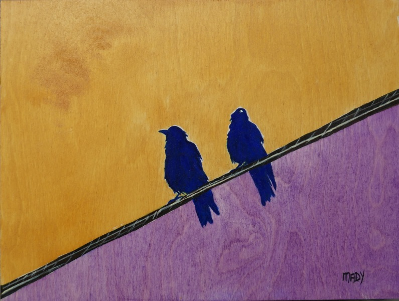 Birds On A Wire  16x24 Mady Thiel-Kopstein Sold