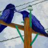 Electric Love  Wood Panel 12x16 Mady Thiel-Kopstein